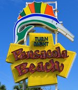 Pensacola Florida beach sign